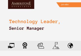 Technology Leader, Senior Manager