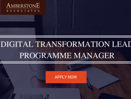 Digital Transformation Lead – Programme Manager