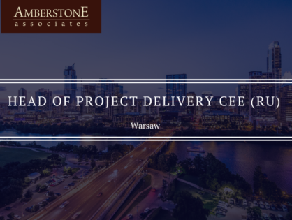 HEAD OF PROJECT DELIVERY CEE (Ru)